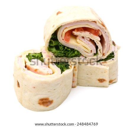 tortilla wrap cut detail