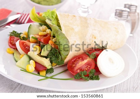 tortilla wrap with vegetables