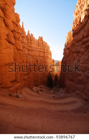 Tortuos trail in Bryce Canyon, Utah - stock photo