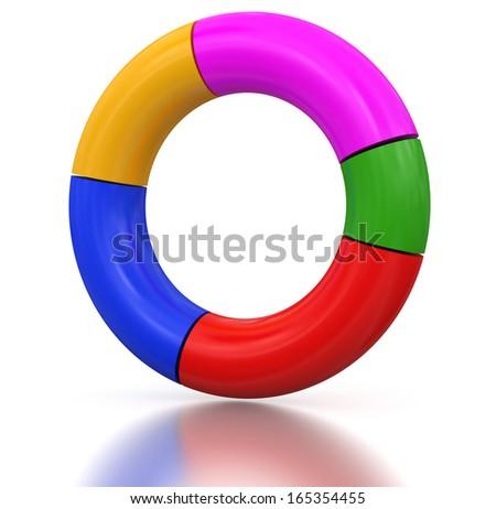 Torus Chart - stock photo