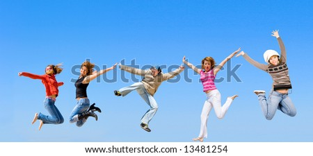 total jumping - stock photo