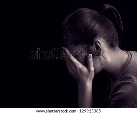 Total loss of hope. Feeling that everything is wrong and nothing will turn out well - stock photo