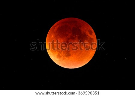 total lunar eclipse 2015 - stock photo