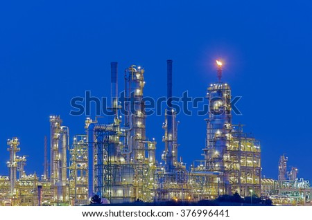 Total Refinery at the chemical site - stock photo