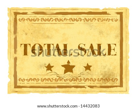 Total sale - stock photo