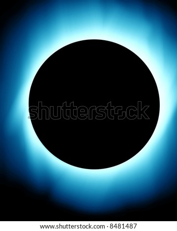 total solar eclipse - stock photo