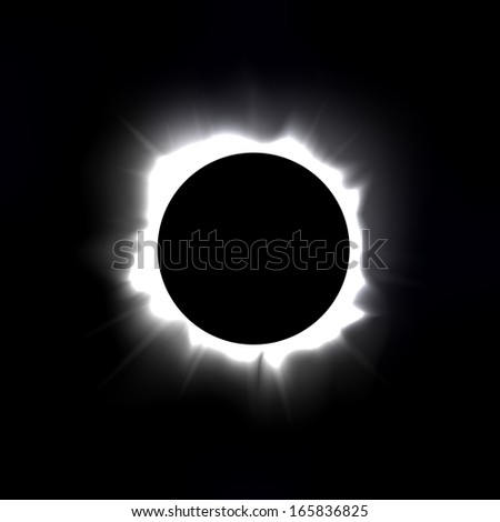 Total solar eclipse illustration - stock photo