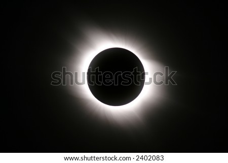 Total Solar Eclipse of 2006 March 29, Southern Turkey, Side - stock photo