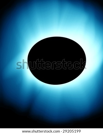 total solar eclipse on a blue background - stock photo