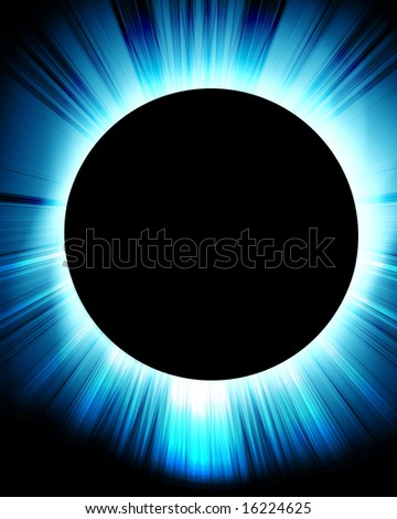 total solar eclipse on a dark background