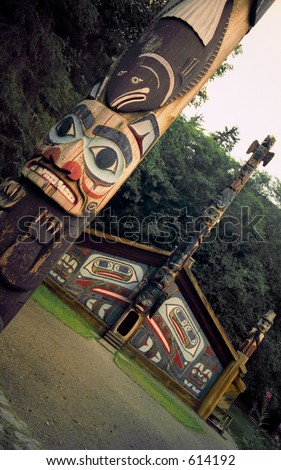 Totem and Clan House - stock photo
