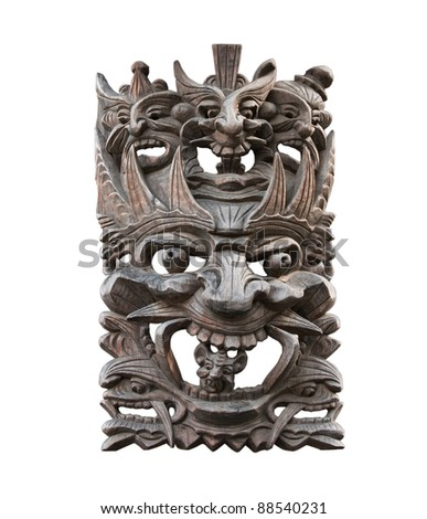 Totem mask, isolated - stock photo