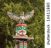 Totem Pole in Vancouver BC. - stock photo
