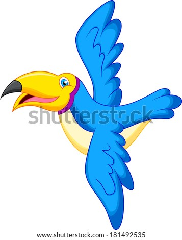 Cartoon parrot flying - photo#28