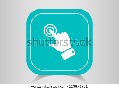 touch operation, web icon - stock photo