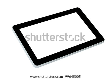Touch screen device on white background - stock photo
