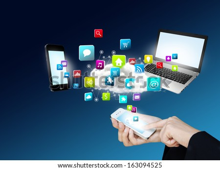 Touch screen mobile phone to display application software and technology, Design concept of technology and communication