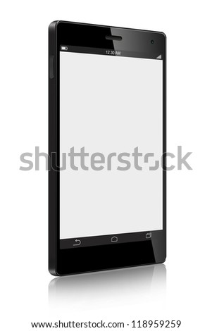 Touch Screen Smart Phone isolated on white background - stock photo