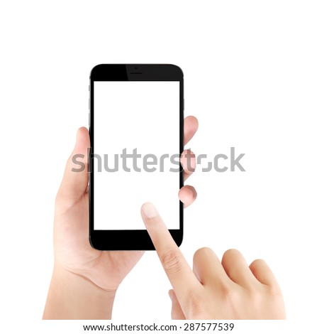 Touch screen smartphone,application on a screen - stock photo