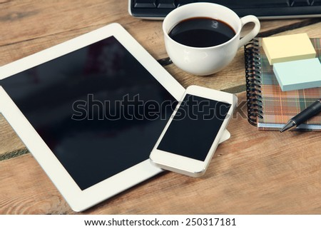 Touch screen tablet computer and telephone