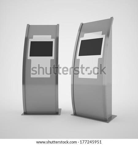 Touch screen terminal - stock photo