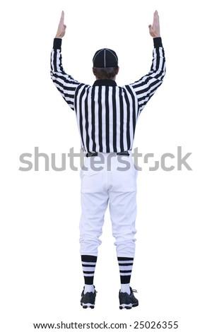 Touchdown Referee - stock photo