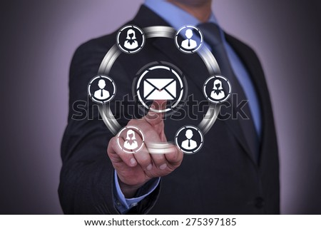 Touching Business Connection Concept  - stock photo
