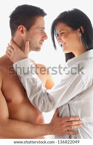Touching each other - stock photo