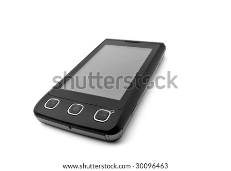 Touchscreen cell phone - stock photo