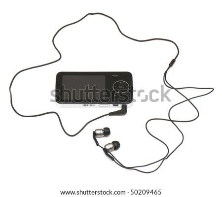 touchscreen multimedia smartphone on a white background. studio. - stock photo