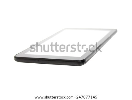 touchscreen phone on a white background - stock photo