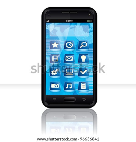 Touchscreen Phone with Multimedia Interface