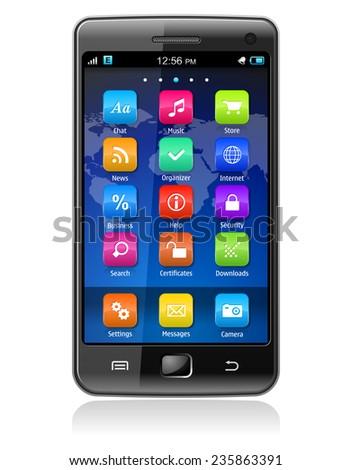 Touchscreen smartphone - stock photo