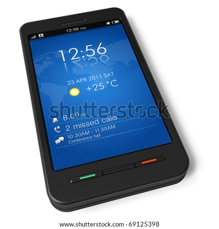 Touchscreen smartphone - stock photo