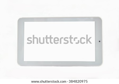 Touchscreen Tablet PC with blank screen - stock photo