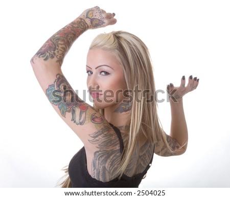Biker chicks stock images royalty free images vectors for Biker chick tattoos