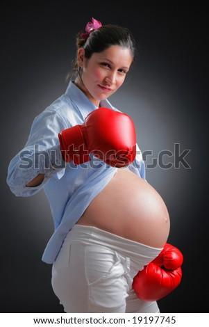 Tough mother - stock photo
