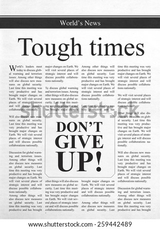 Tough times, don't give up - stock photo