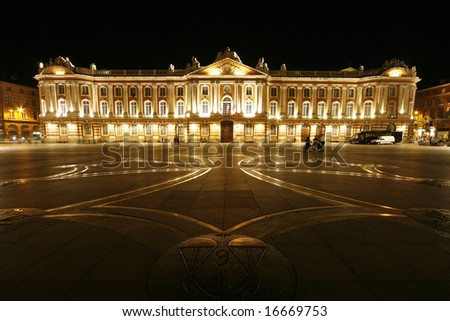 Toulouse capitole, famous place in Toulouse, France - stock photo