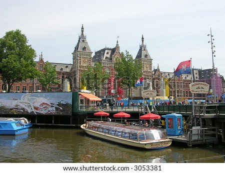 Tour boats in Amsterdam