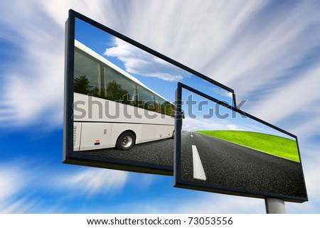 Tour Bus - stock photo
