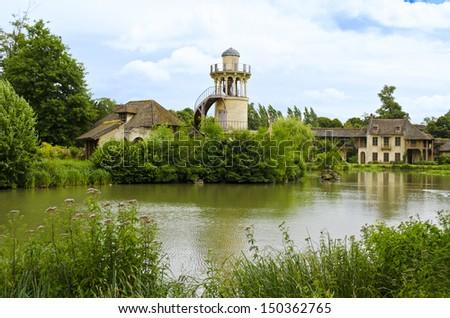 Tour de Marlborough located in the Trianon - Versailles, France - stock photo