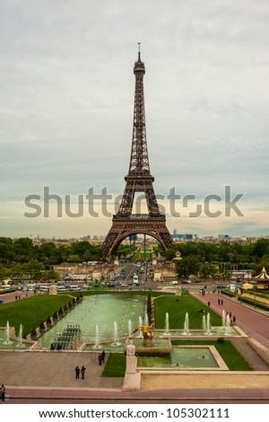 Tour Eiffel Paris France - stock photo