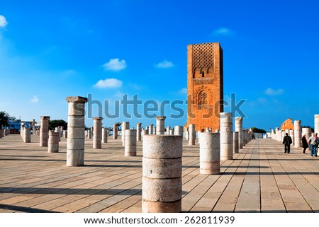 Tour Hassan, Rabat, Morocco - stock photo