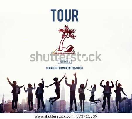 Tour Vacation Travel Destination Concept - stock photo