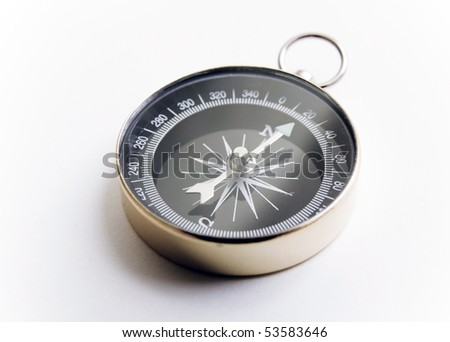 Touring compass on white background - stock photo