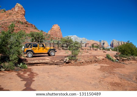 Touring the Red Rock Country Sedona Arizona - stock photo