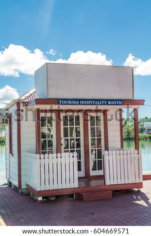 Tourism Hospitality Booth on Antigua