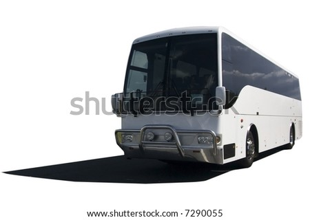 tourist bus isolated on a white background - stock photo