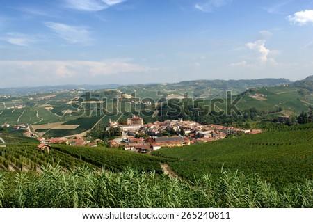 tourist glimpse of Piedmont - stock photo